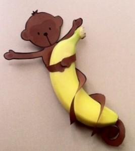 banaan met aap